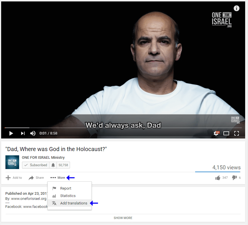 how to add subtitles to other videos